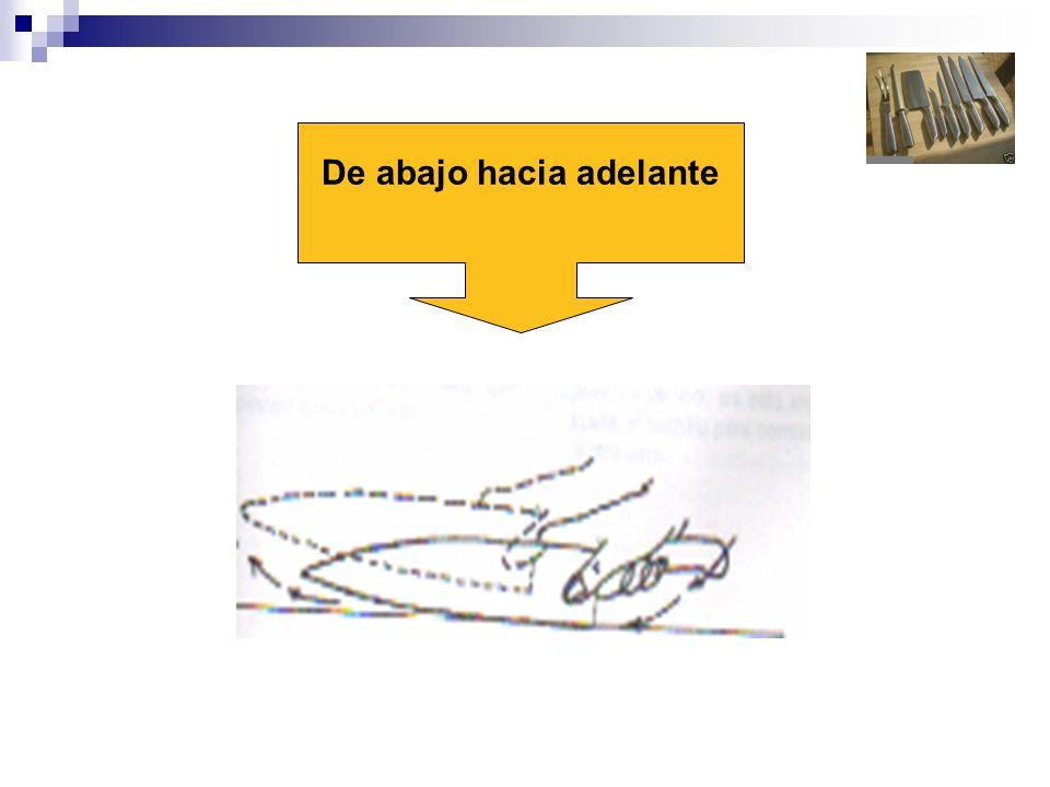 TECNICA DE CAIDA LIBRE Es un corte realizado con el cuchillo y a veces con machete.