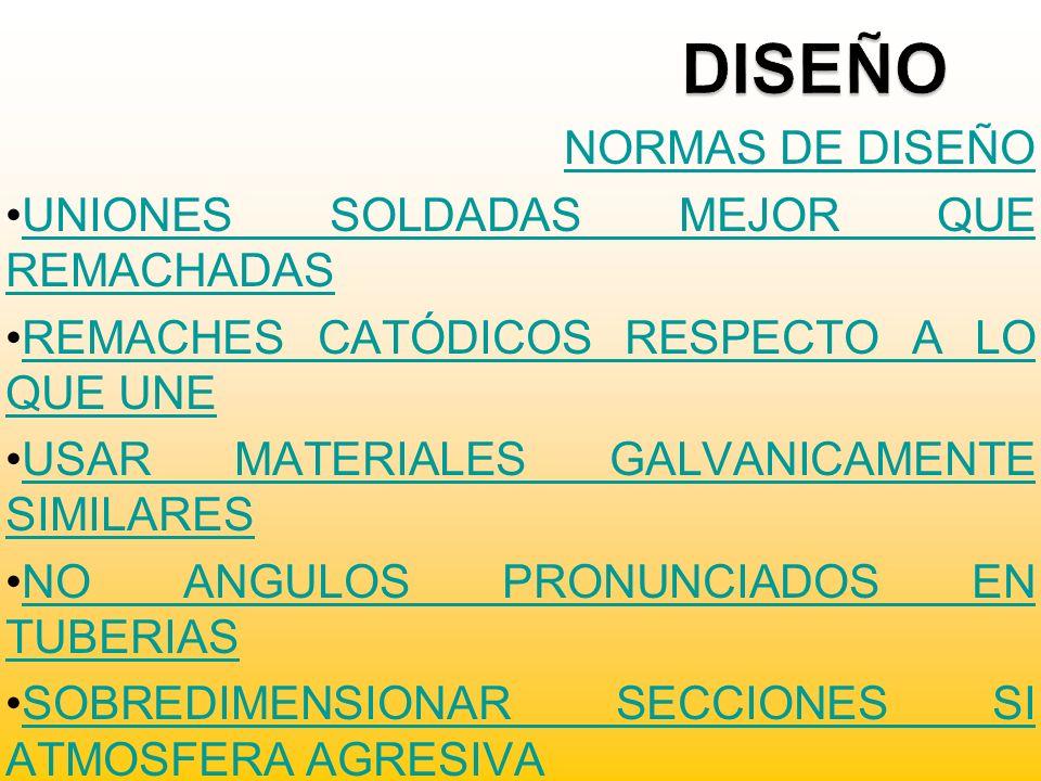 NORMAS DE DISEÑO UNIONES SOLDADAS MEJOR QUE REMACHADASUNIONES SOLDADAS MEJOR QUE REMACHADAS REMACHES CATÓDICOS RESPECTO A LO QUE UNEREMACHES CATÓDICOS