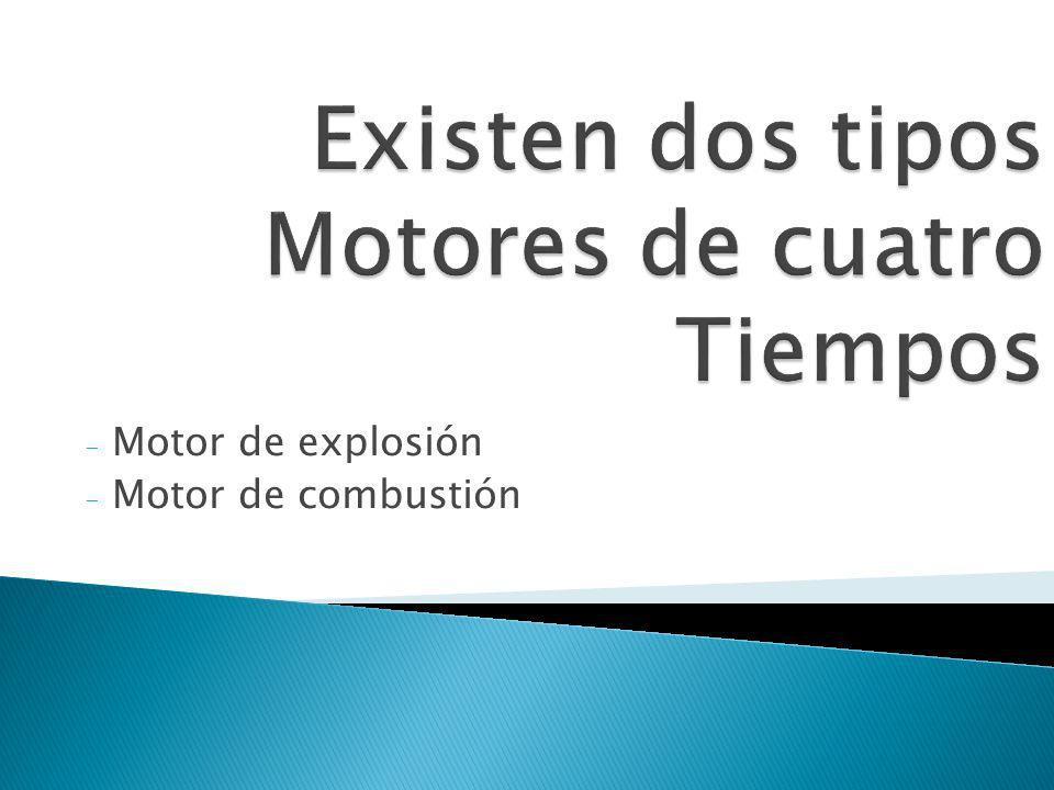 - Motor de explosión - Motor de combustión