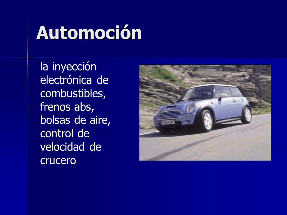 Automoción la inyección electrónica de combustibles, frenos abs, bolsas de aire, control de velocidad de crucero