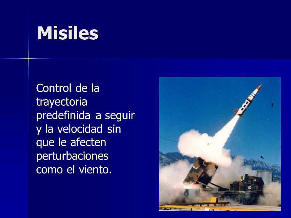 Misiles Control de la trayectoria predefinida a seguir y la velocidad sin que le afecten perturbaciones como el viento.