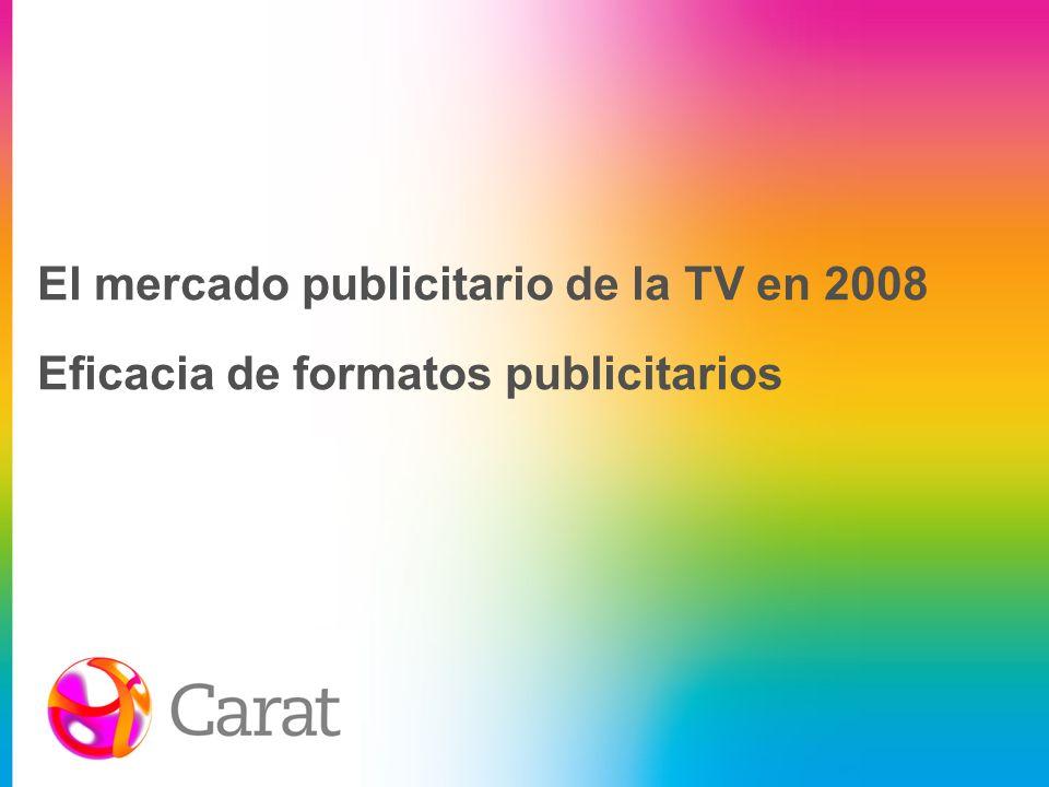 La TV es uno de los medios más rentables en generación de notoriedad Fuente: IOPE (Notoriedad espontánea); informe i2p Arce/Media Hotline (Inversión real estimada); Análisis Carat Expert 2007 2007.