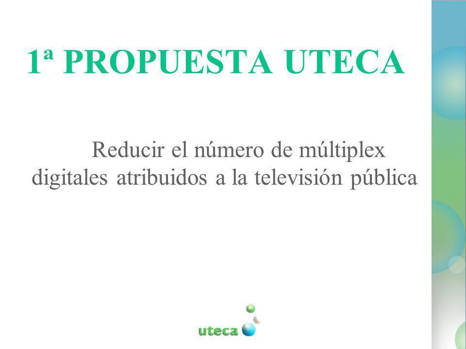 1ª PROPUESTA UTECA Reducir el número de múltiplex digitales atribuidos a la televisión pública