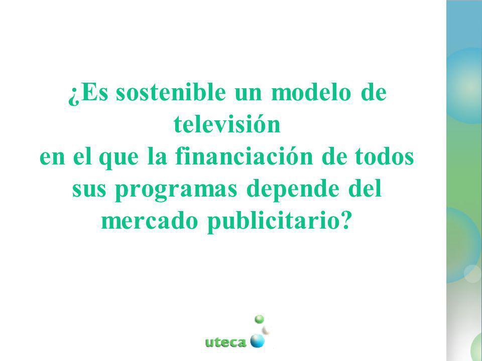 ¿Es sostenible un modelo de televisión en el que la financiación de todos sus programas depende del mercado publicitario
