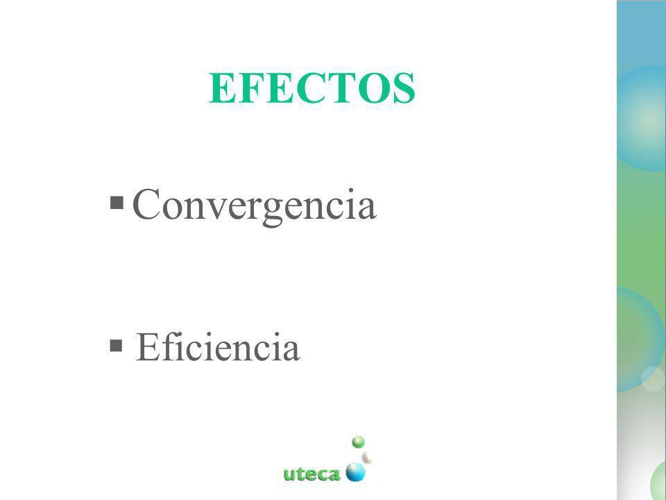 EFECTOS Convergencia Eficiencia