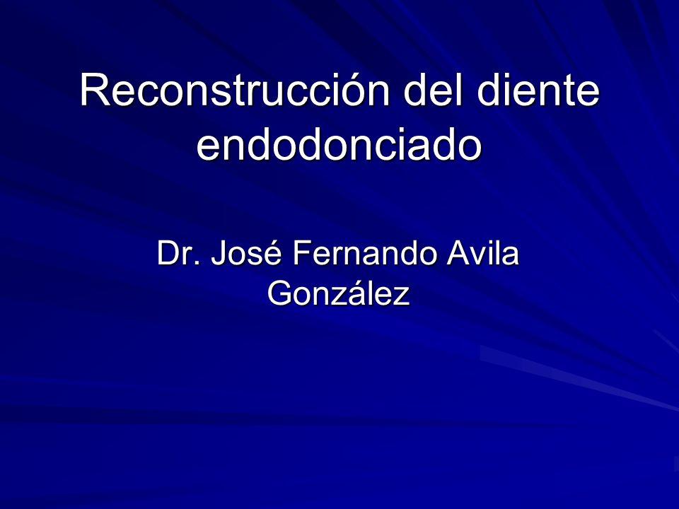 Reconstrucción del diente endodonciado Dr. José Fernando Avila González