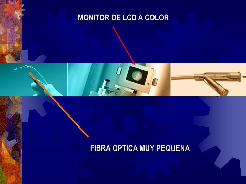 FIBRA OPTICA MUY PEQUENA MONITOR DE LCD A COLOR