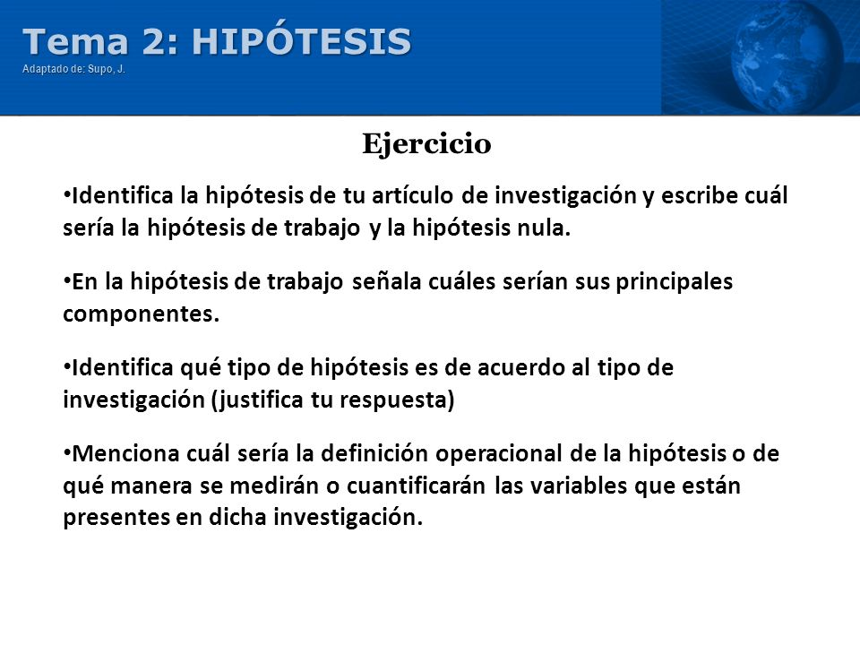 Identifica la hipótesis de tu artículo de investigación y escribe cuál sería la hipótesis de trabajo y la hipótesis nula. En la hipótesis de trabajo s