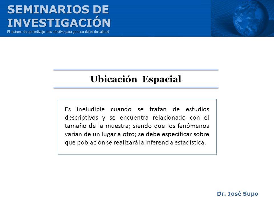 Dr. José Supo Es ineludible cuando se tratan de estudios descriptivos y se encuentra relacionado con el tamaño de la muestra; siendo que los fenómenos