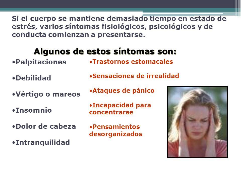 El estrés, está relacionado con muchas de las principales causas de muerte tales como: cáncer, enfermedades cardiacas, cirrosis del hígado, enfermedades pulmonares, accidentes y suicidio (depresión profunda).la hipertensión arterial, la gastritis la úlcera péptica o duodenal, reumatismo de diversas índoles; además, se pueden señalar las enfermedades del colon, la diabetes, las jaquecas etc.