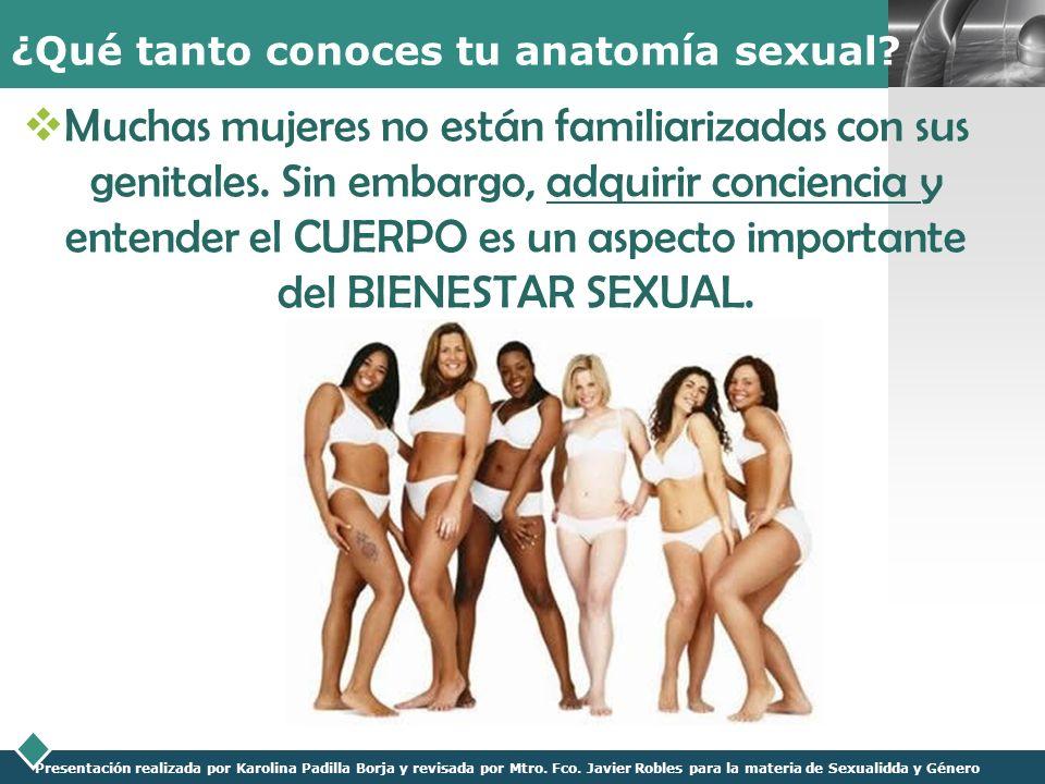 LOGO Presentación realizada por Karolina Padilla Borja y revisada por Mtro. Fco. Javier Robles para la materia de Sexualidda y Género ¿Qué tanto conoc