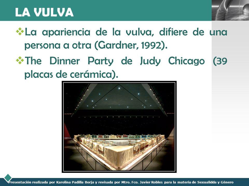 LOGO Presentación realizada por Karolina Padilla Borja y revisada por Mtro. Fco. Javier Robles para la materia de Sexualidda y Género LA VULVA La apar