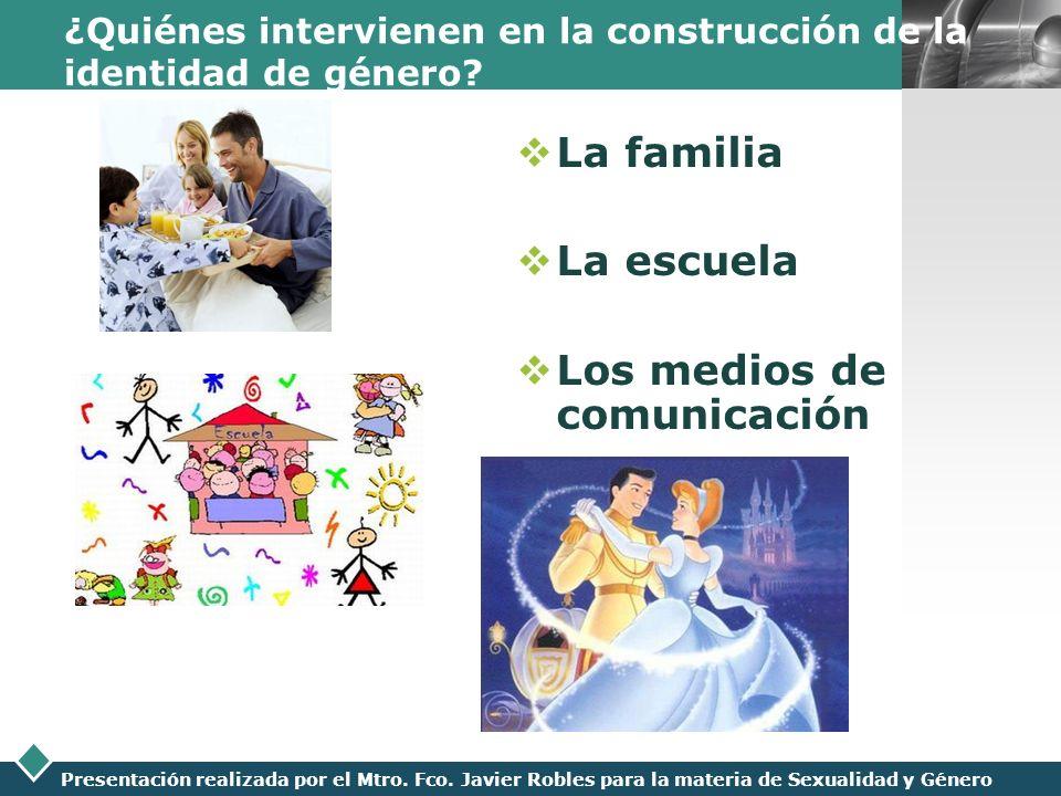 LOGO Presentación realizada por el Mtro. Fco. Javier Robles para la materia de Sexualidad y Género ¿Quiénes intervienen en la construcción de la ident