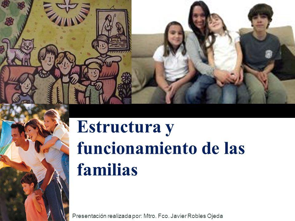 Estructura y funcionamiento de las familias Presentación realizada por: Mtro. Fco. Javier Robles Ojeda