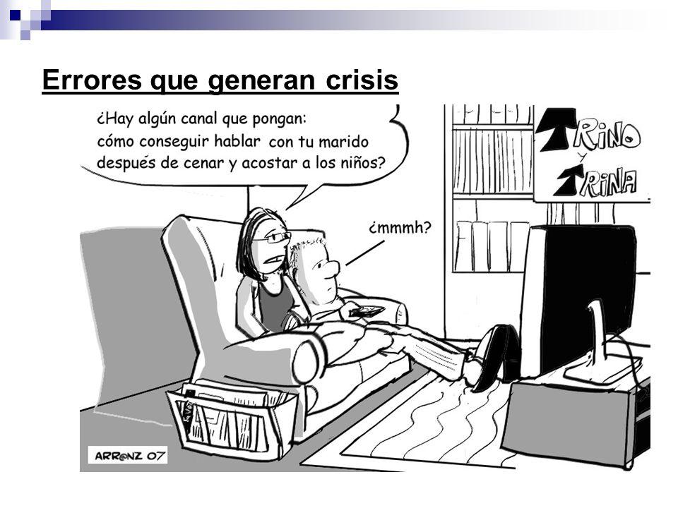 Presentación realizada por: Mtro. Fco. Javier Robles Ojeda Errores que generan crisis