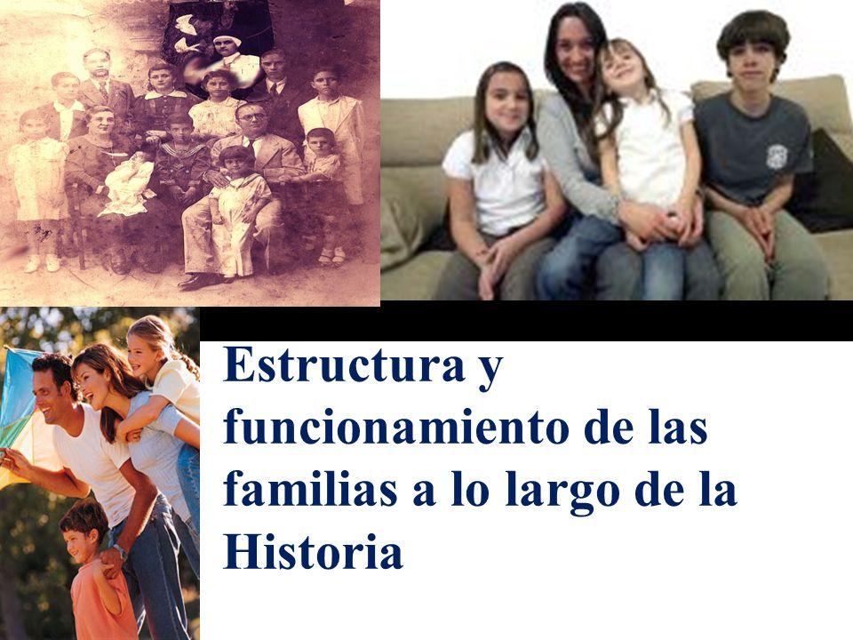 Estructura y funcionamiento de las familias a lo largo de la Historia