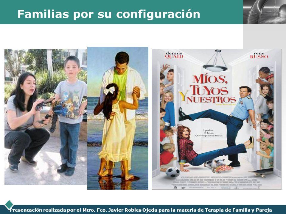 LOGO Presentación realizada por el Mtro. Fco. Javier Robles Ojeda para la materia de Terapia de Familia y Pareja Familias por su configuración