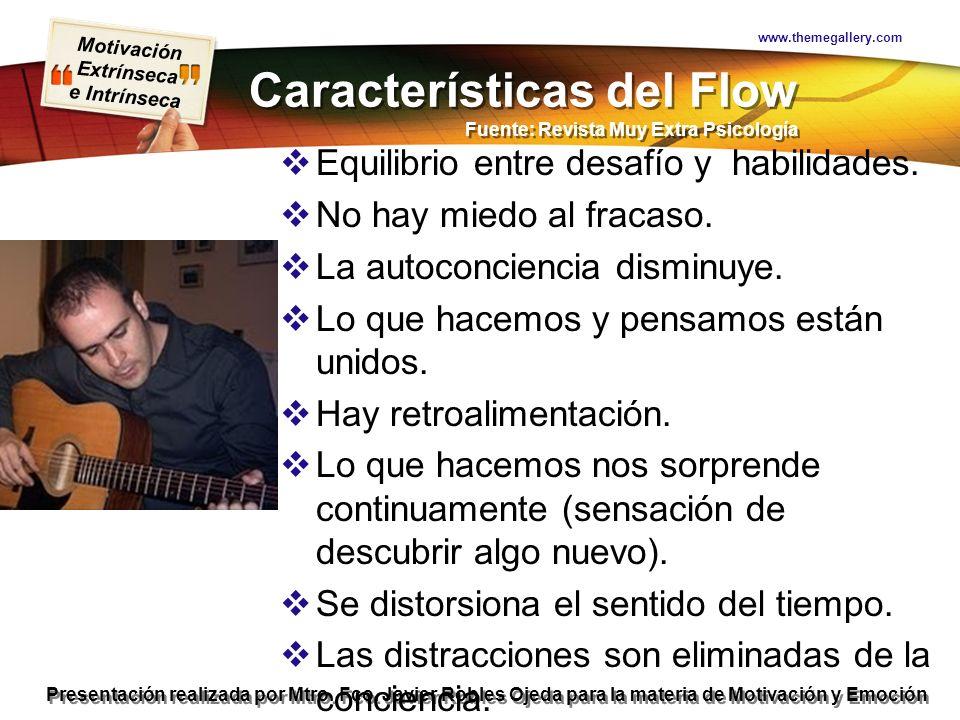 Motivación Extrínseca e Intrínseca Presentación realizada por Mtro. Fco. Javier Robles Ojeda para la materia de Motivación y Emoción Características d