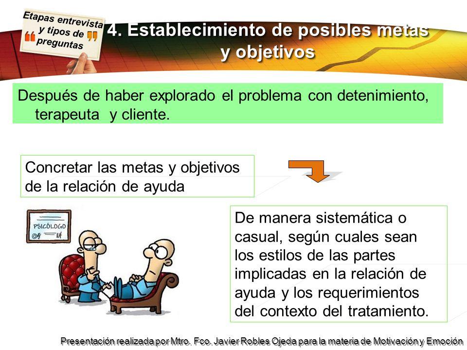 Etapas entrevista y tipos de preguntas Presentación realizada por Mtro. Fco. Javier Robles Ojeda para la materia de Motivación y Emoción Después de ha
