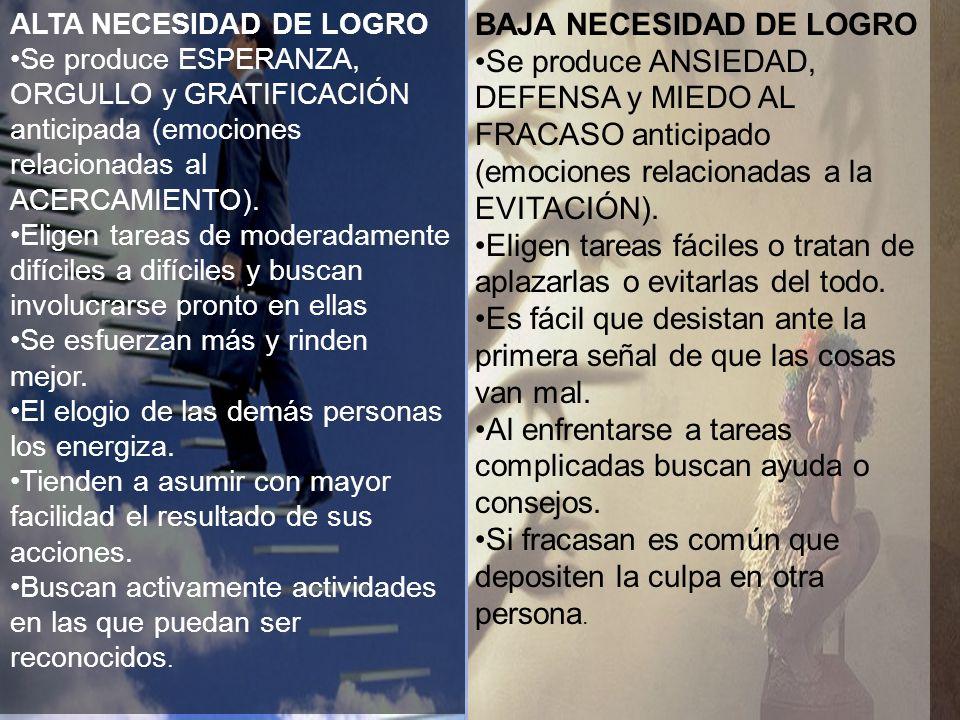 Motivación de Logro Presentación realizada por Mtro. Fco. Javier Robles Ojeda para la materia de Motivación y Emoción v v www.themegallery.com ALTA NE
