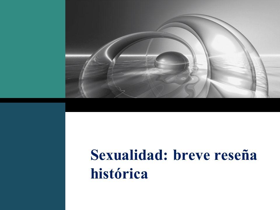 Sexualidad: breve reseña histórica