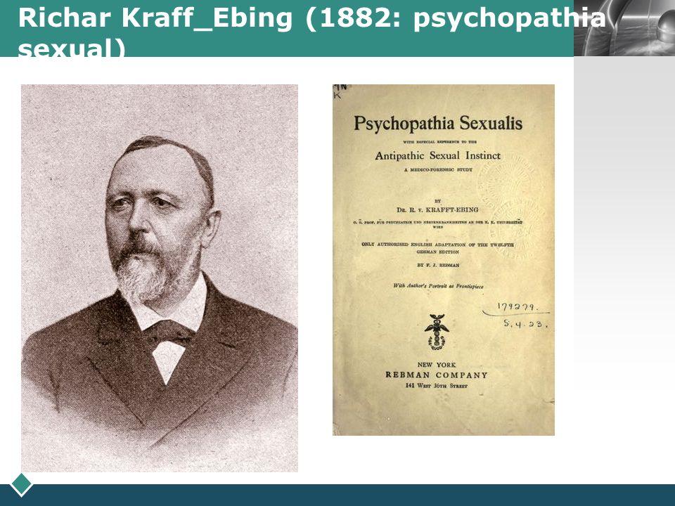 LOGO Richar Kraff_Ebing (1882: psychopathia sexual)