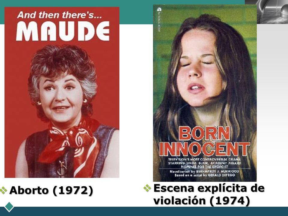 LOGO Escena explícita de violación (1974) Escena explícita de violación (1974) Aborto (1972) Aborto (1972)
