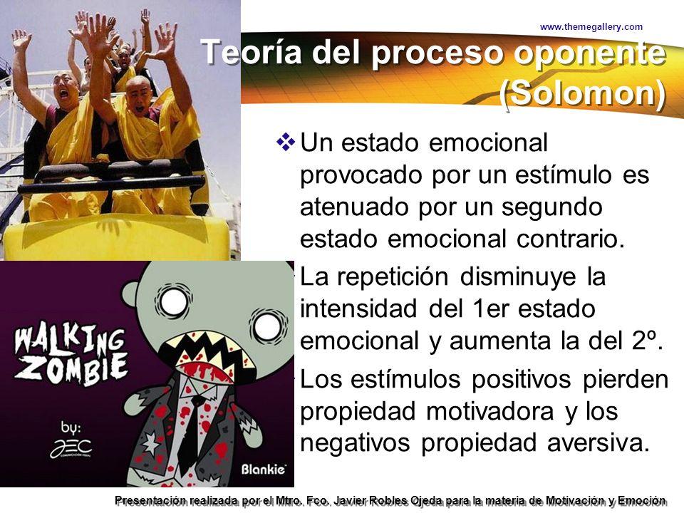 Teoría Hedonista Presentación realizada por el Mtro. Fco. Javier Robles Ojeda para la materia de Motivación y Emoción Un estado emocional provocado po