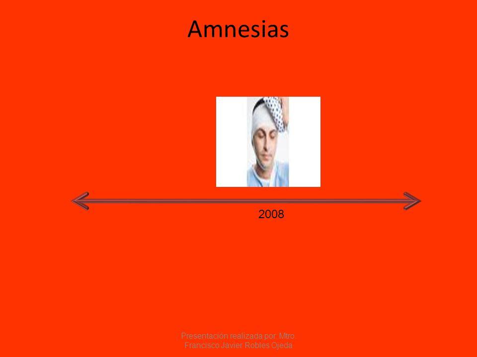 Amnesias 2008 Presentación realizada por: Mtro. Francisco Javier Robles Ojeda