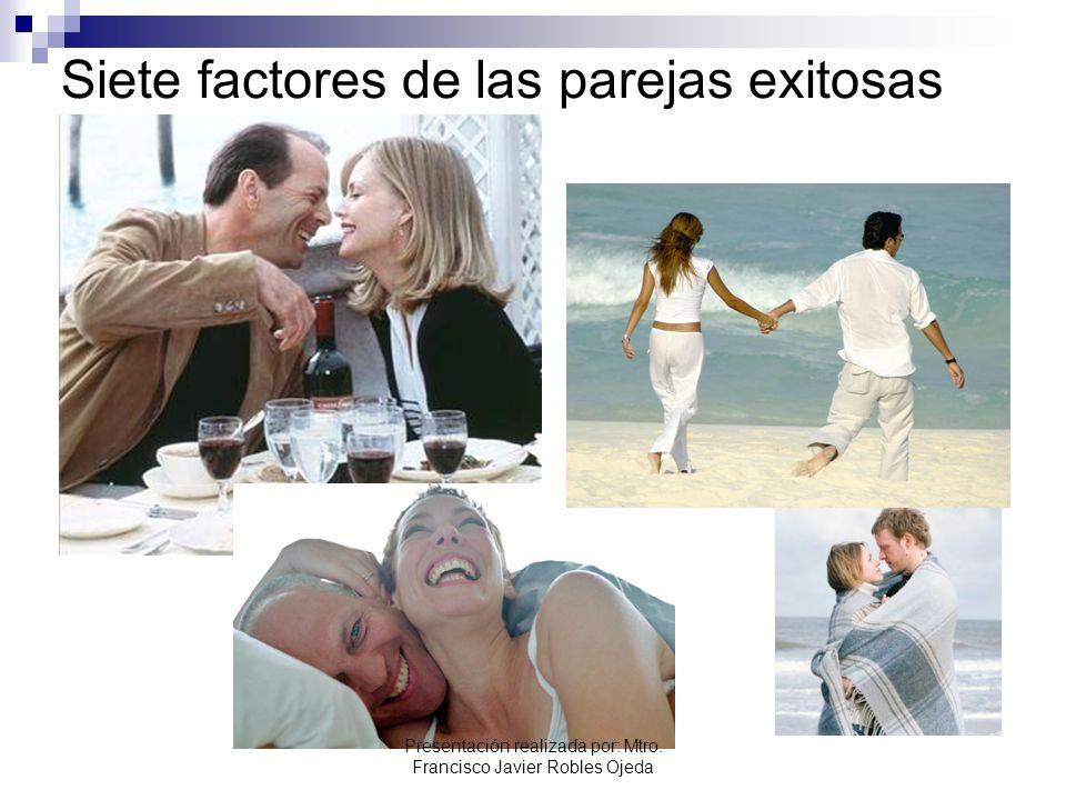 Siete factores de las parejas exitosas Presentación realizada por: Mtro. Francisco Javier Robles Ojeda