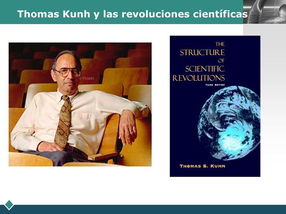 LOGO Thomas Kunh y las revoluciones científicas