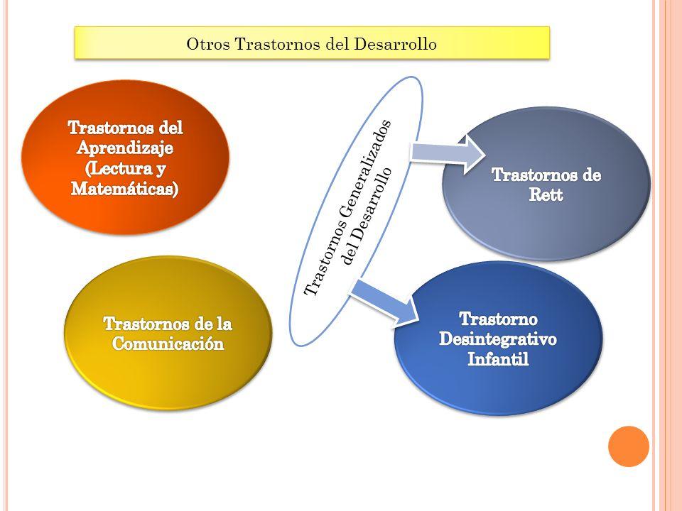 Otros Trastornos del Desarrollo Trastornos Generalizados del Desarrollo