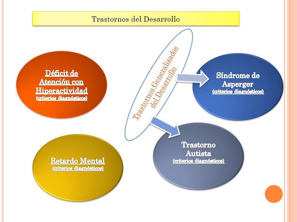 Trastornos del Desarrollo Trastornos Generalizados del Desarrollo