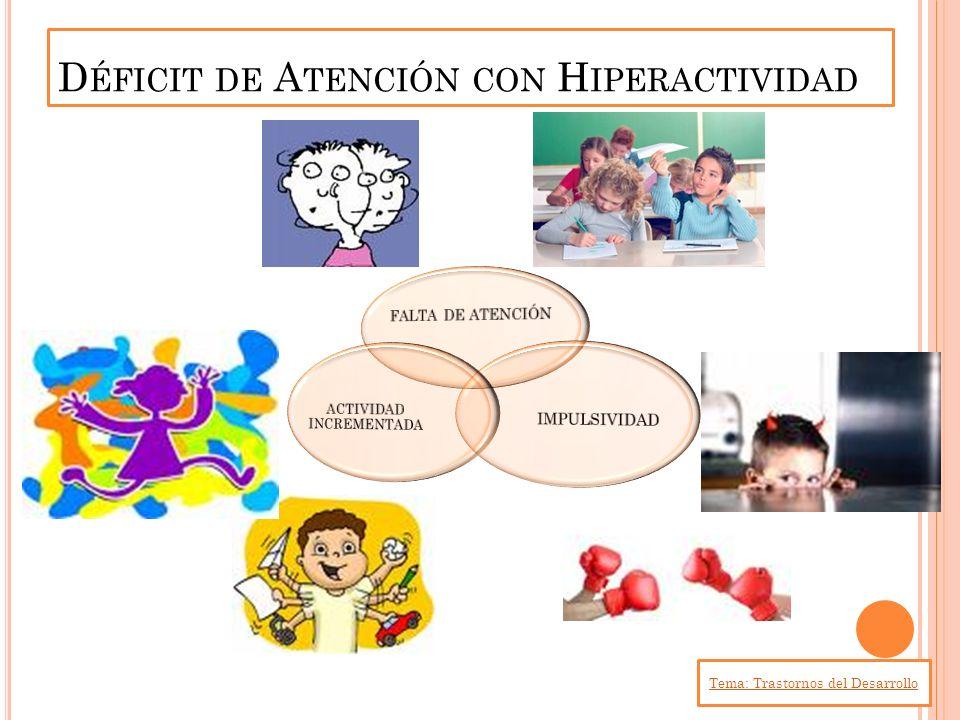 D ÉFICIT DE A TENCIÓN CON H IPERACTIVIDAD Tema: Trastornos del Desarrollo