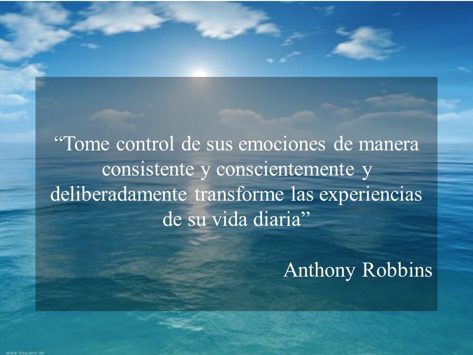 Trabajo con emociones Presentación realizada para la materia de Teoría y Técnica de la Entrevista Tome control de sus emociones de manera consistente y conscientemente y deliberadamente transforme las experiencias de su vida diaria Anthony Robbins
