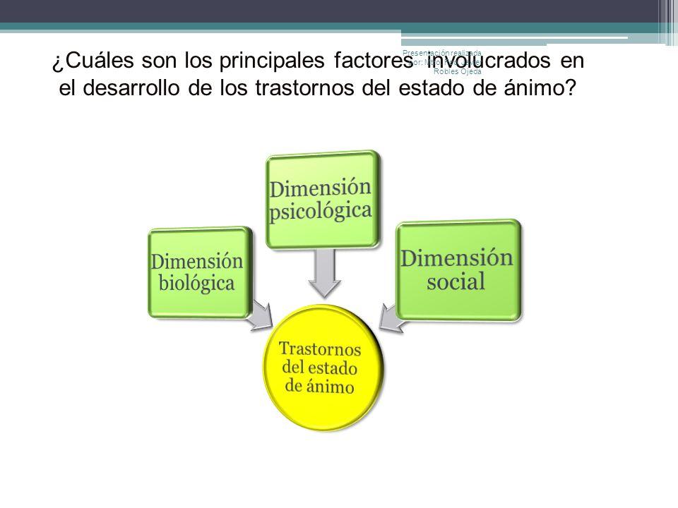 ¿Cuáles son los principales factores involucrados en el desarrollo de los trastornos del estado de ánimo? Presentación realizada por: Mtro. Fco. Javie
