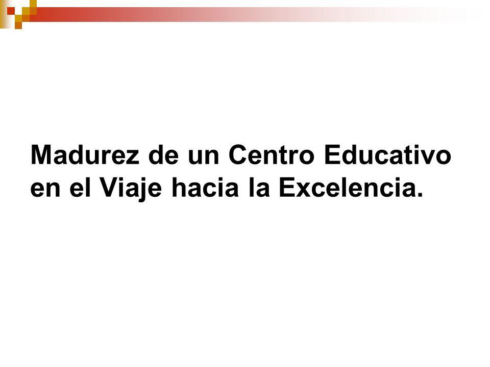 Madurez de un Centro Educativo en el Viaje hacia la Excelencia.