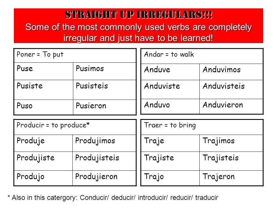 Straight up irregulars!!.