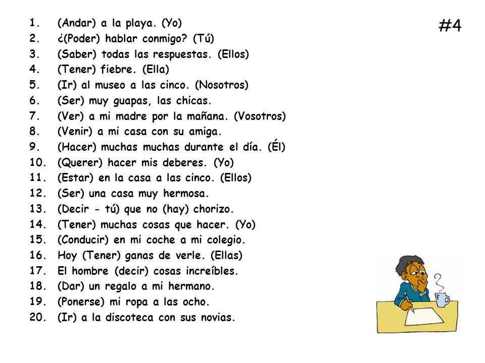 Rellena los blancos con la parte adecuada de cada verbo entre paréntesis (Fill in the blanks with the correct part of each verb in brackets) 1.(Yo) ______________ en la discoteca.