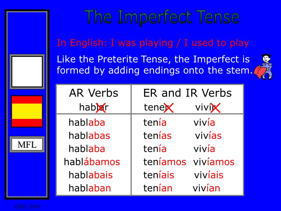 The Imperfect Tense The I II Imperfect tense describes what something or somebody WAS like in the PAST.