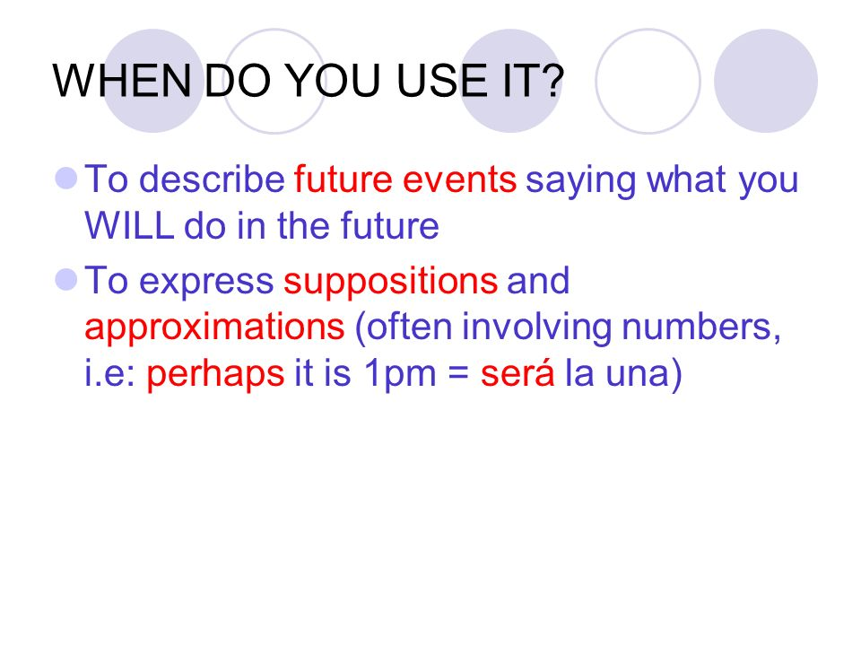 Objetivos: To revise saying what you WILL do (The Simple future tense) To revise all 12 irregular future tense stems Aim: To be able to say what you w