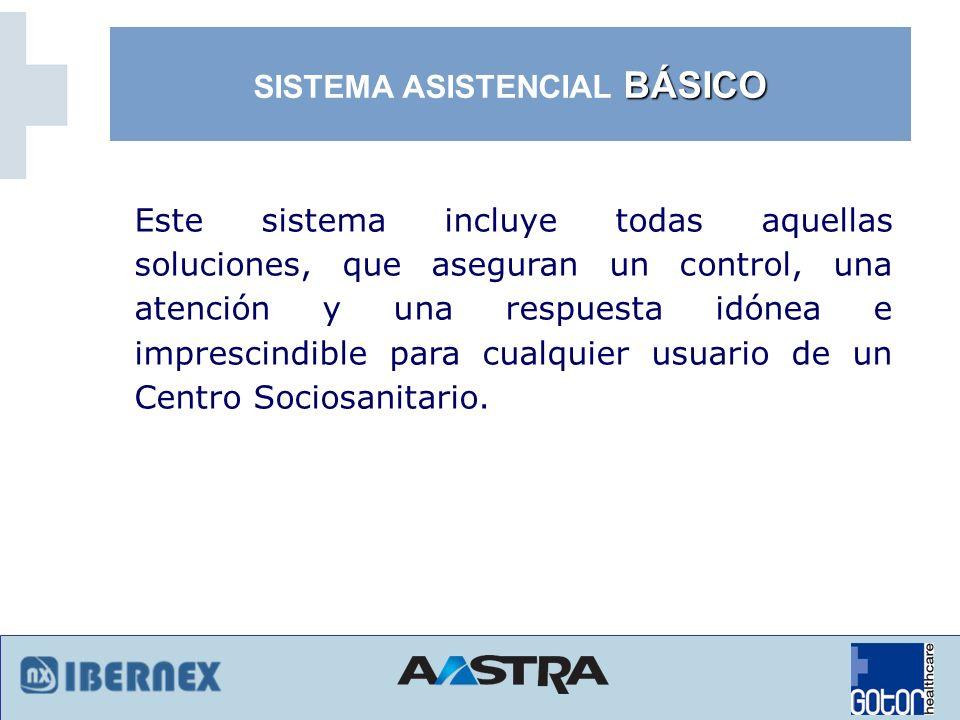 Sistema Paciente-Enfermera: (Pulsador de cama, Pulsador de baño, luz de pasillo...).