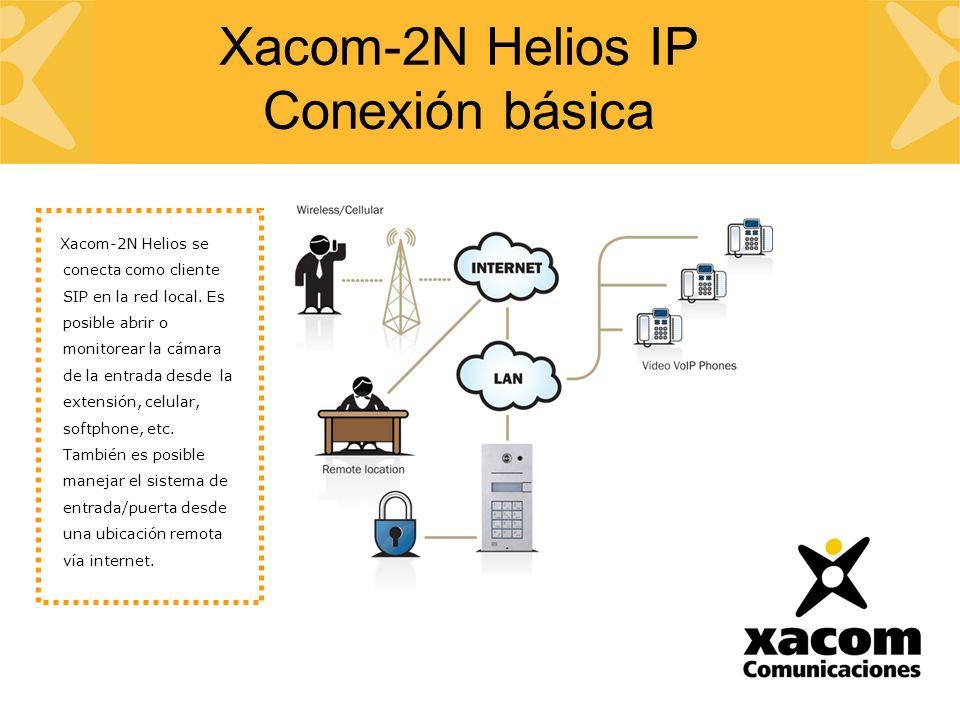 Xacom-2N Helios se conecta como cliente SIP en la red local.