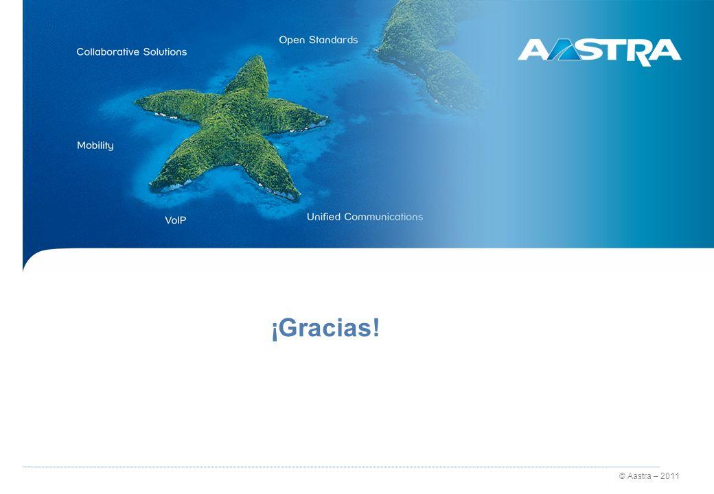 © Aastra – 2011 ¡Gracias!