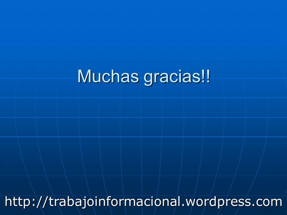 Muchas gracias!! http://trabajoinformacional.wordpress.com