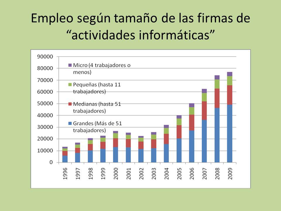 Limitaciones de los datos: Sólo empleo registrado Subrepresentación de firmas con altos niveles de informalidad (Microempresas y Pymes) Sólo empleo privado Excluye producción Estatal, unidades académicas, y ONGs.