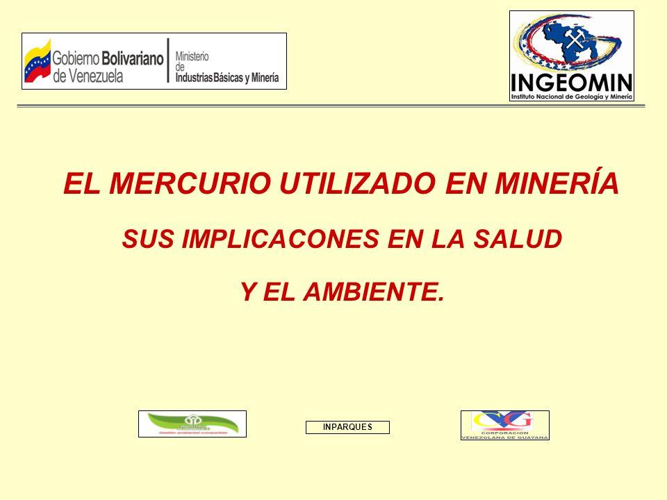 EL MERCURIO UTILIZADO EN MINERÍA SUS IMPLICACONES EN LA SALUD Y EL AMBIENTE. INPARQUES