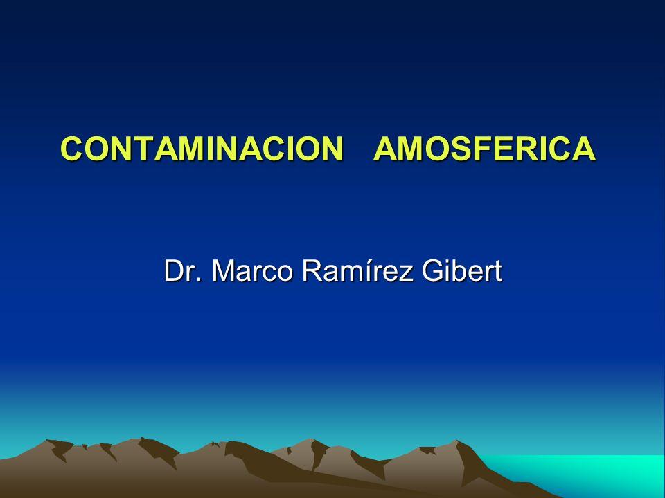 CONTAMINACION AMOSFERICA CONTAMINACION AMOSFERICA Dr. Marco Ramírez Gibert