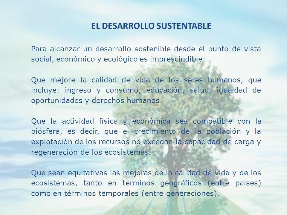 El concepto de sostenibilidad al igual que el de conservación, involucra uso y permanencia, capacidad de carga y de soporte de los sistemas naturales,