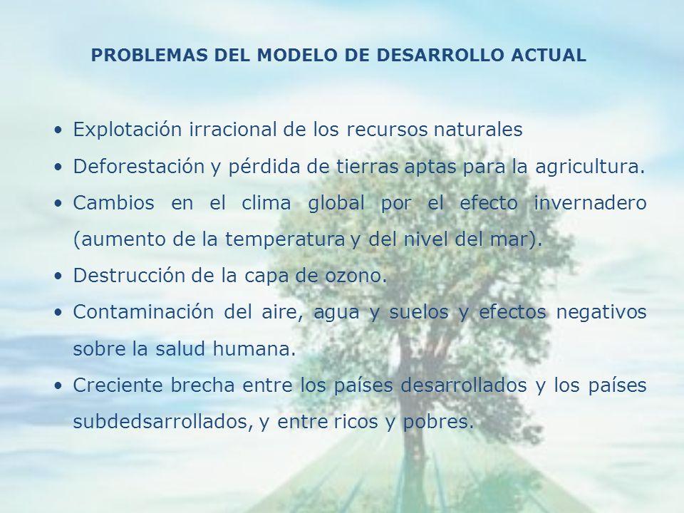 Explotación irracional de los recursos naturales Deforestación y pérdida de tierras aptas para la agricultura.
